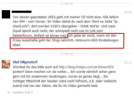 Statement von Holzwurm (per Facebook)