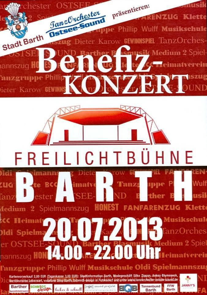 Benefiz-Konzert zur Erhaltung der Barther Freilichtbühne