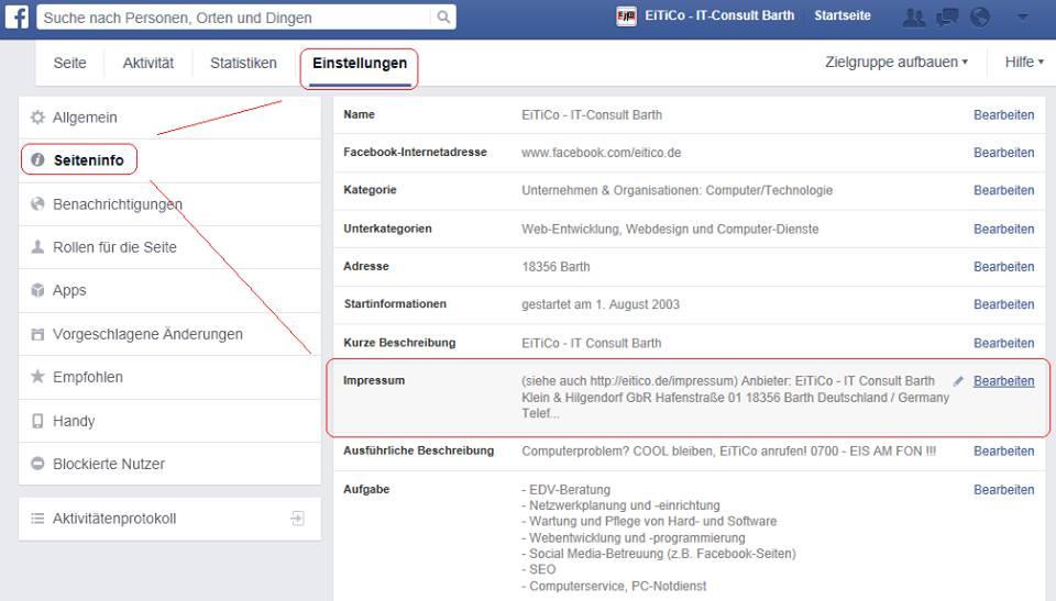 facebook desktop ansicht link