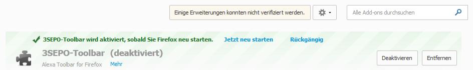 Screenshot :: 3SEPO-Toolbar aktiviert